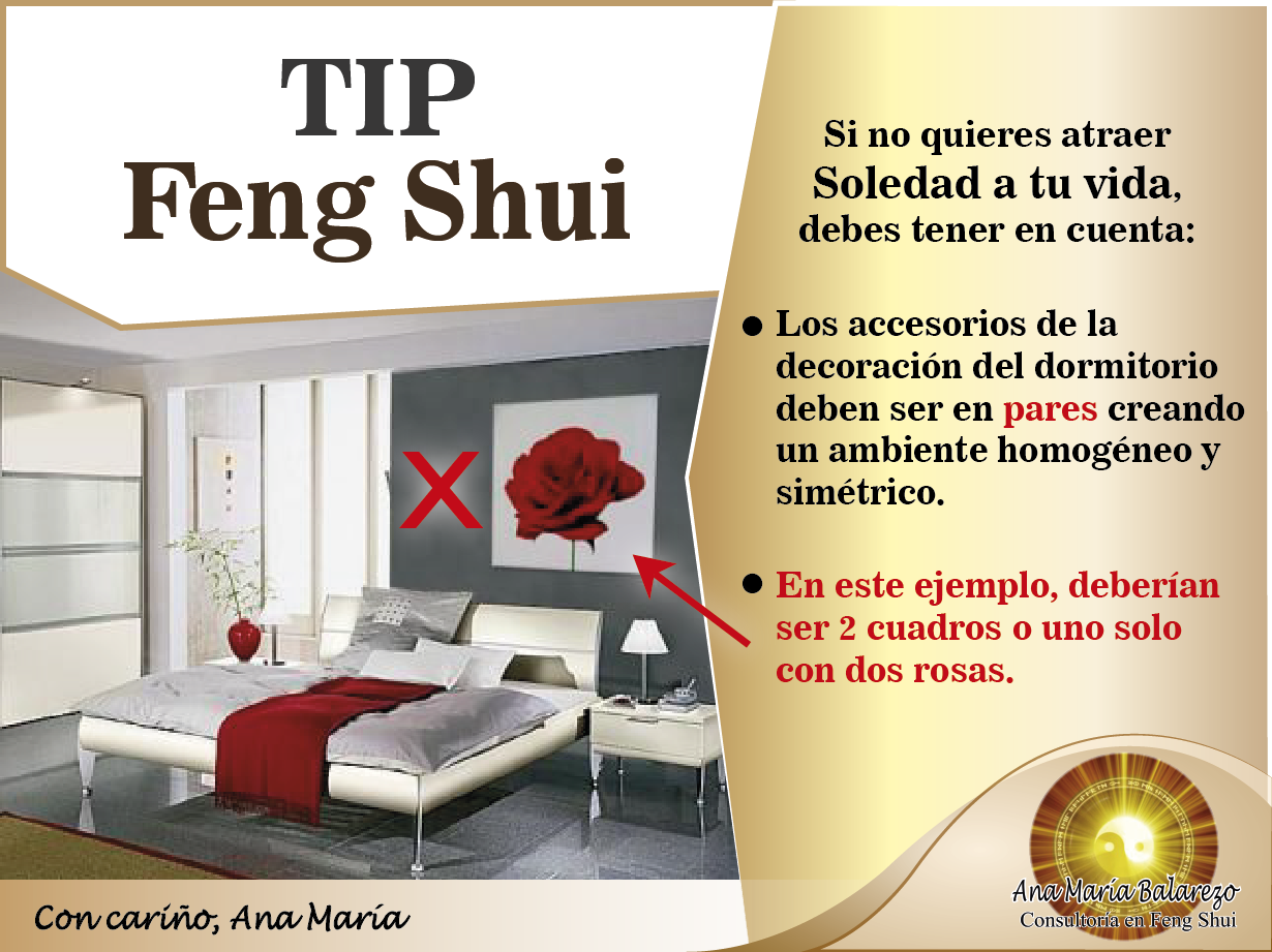 Tipfengshui recuerda que tu decoraci n debe tener pares for Decoracion de habitaciones matrimoniales feng shui