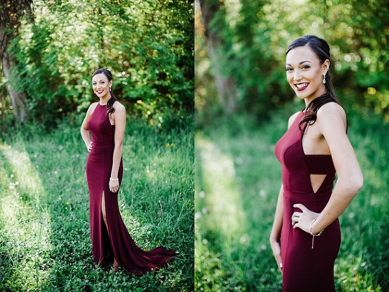 How to pose prom photo session. Prom dress. Maroon prom dress ...