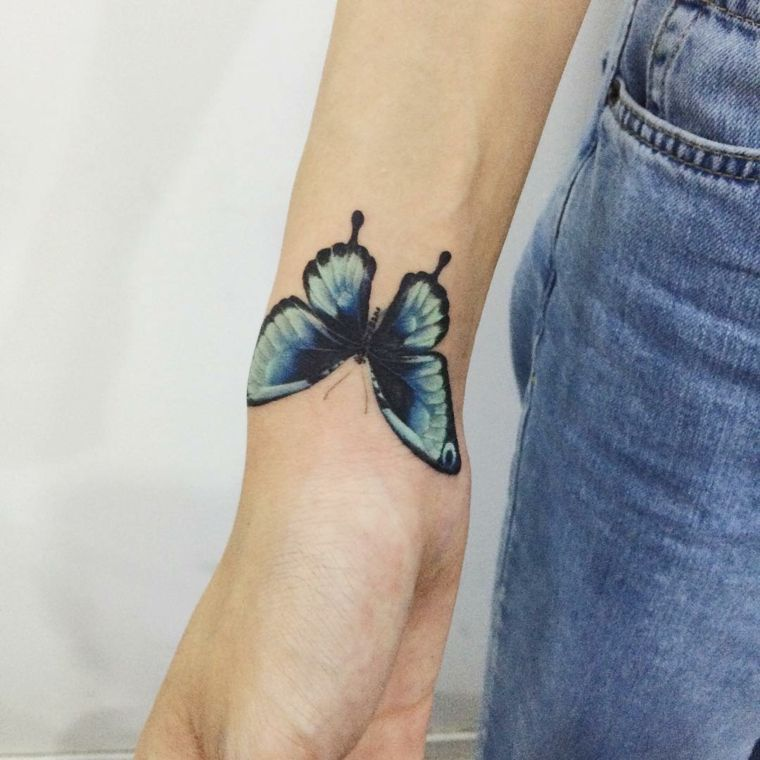 14+ Astonishing Red butterfly tattoo on arm image HD