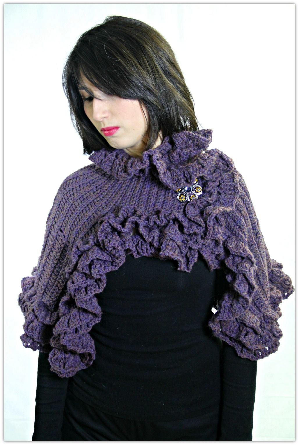 Ruffled Capelet Crochet Pattern: This patterns includes a ...