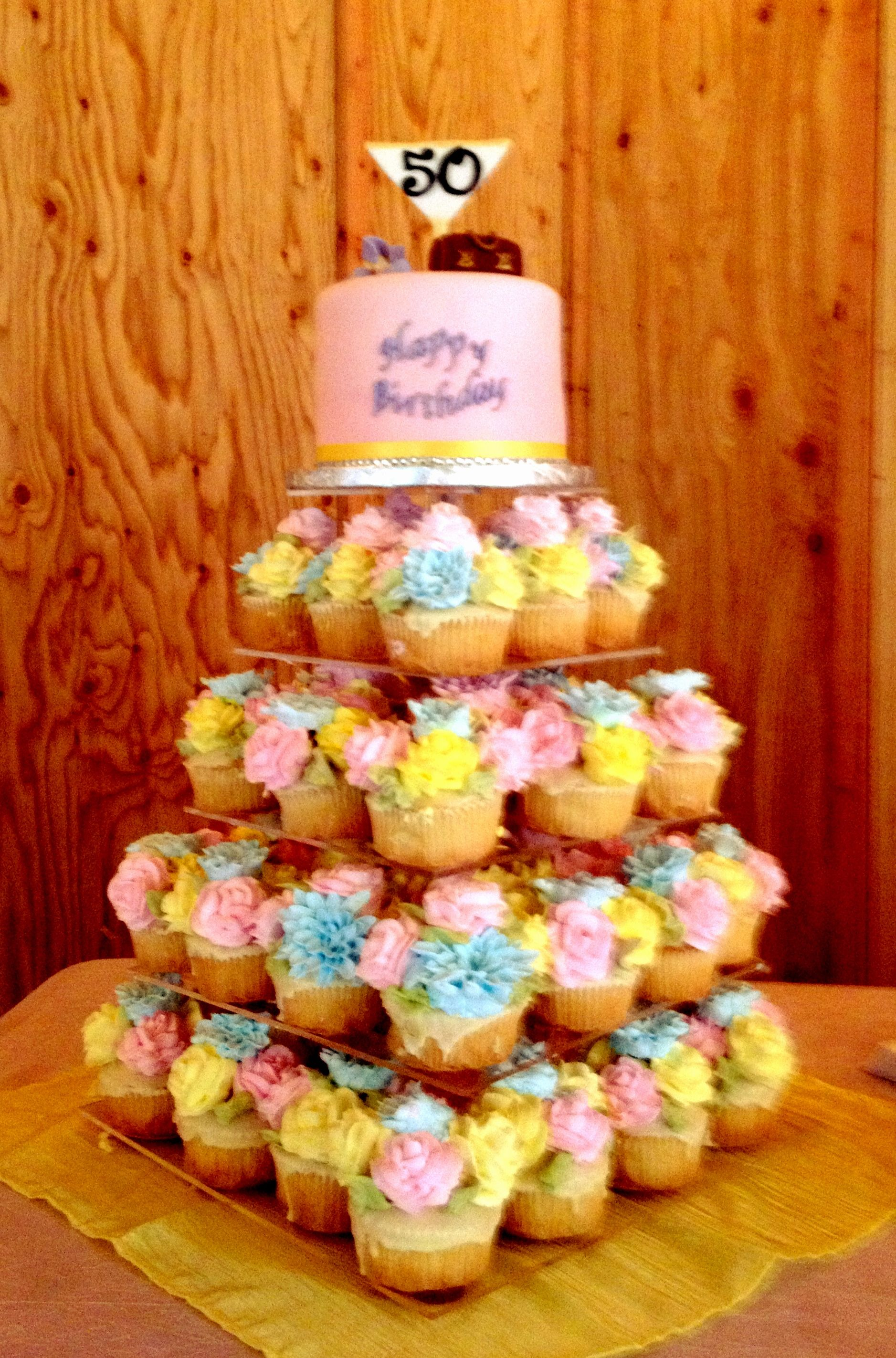 tree of cupcakes for birthday party lucy u0027s garden event center in