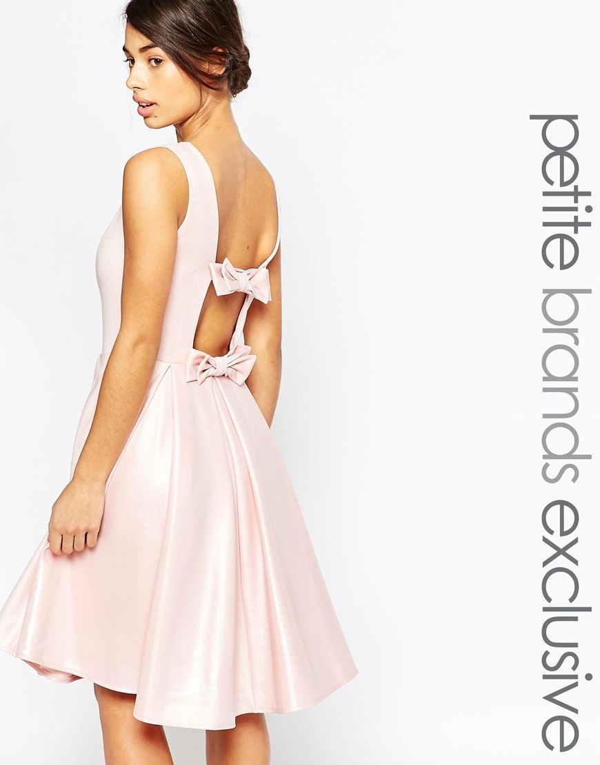 John Zack Petite Dress With Bow Back Detail (the petite length would ...