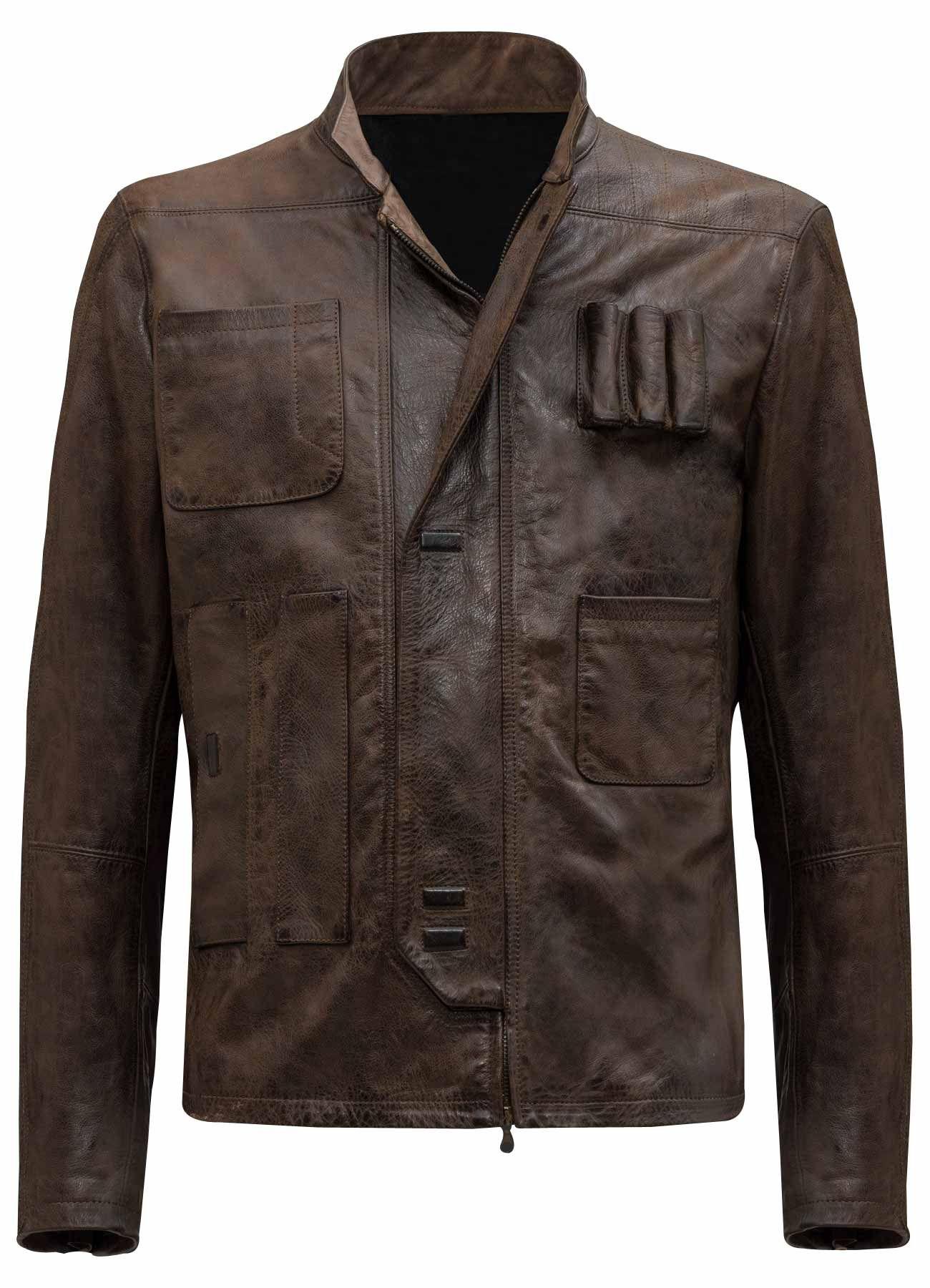 Star Wars Tfa Han Solo Leather Jacket Han Solo Jacket Leather Jacket Star Wars Jacket [ 1800 x 1300 Pixel ]