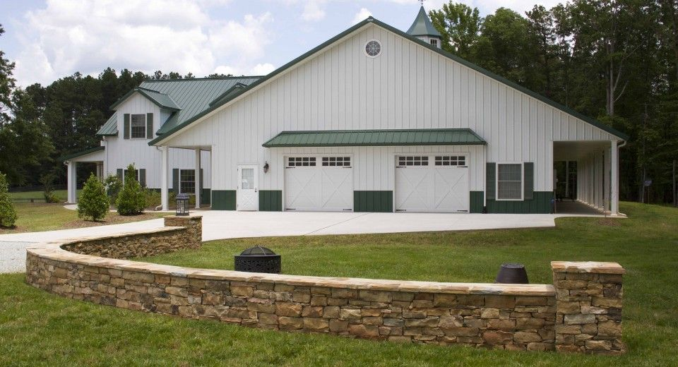 Morton Buildings Home and Hobby Building Combination in