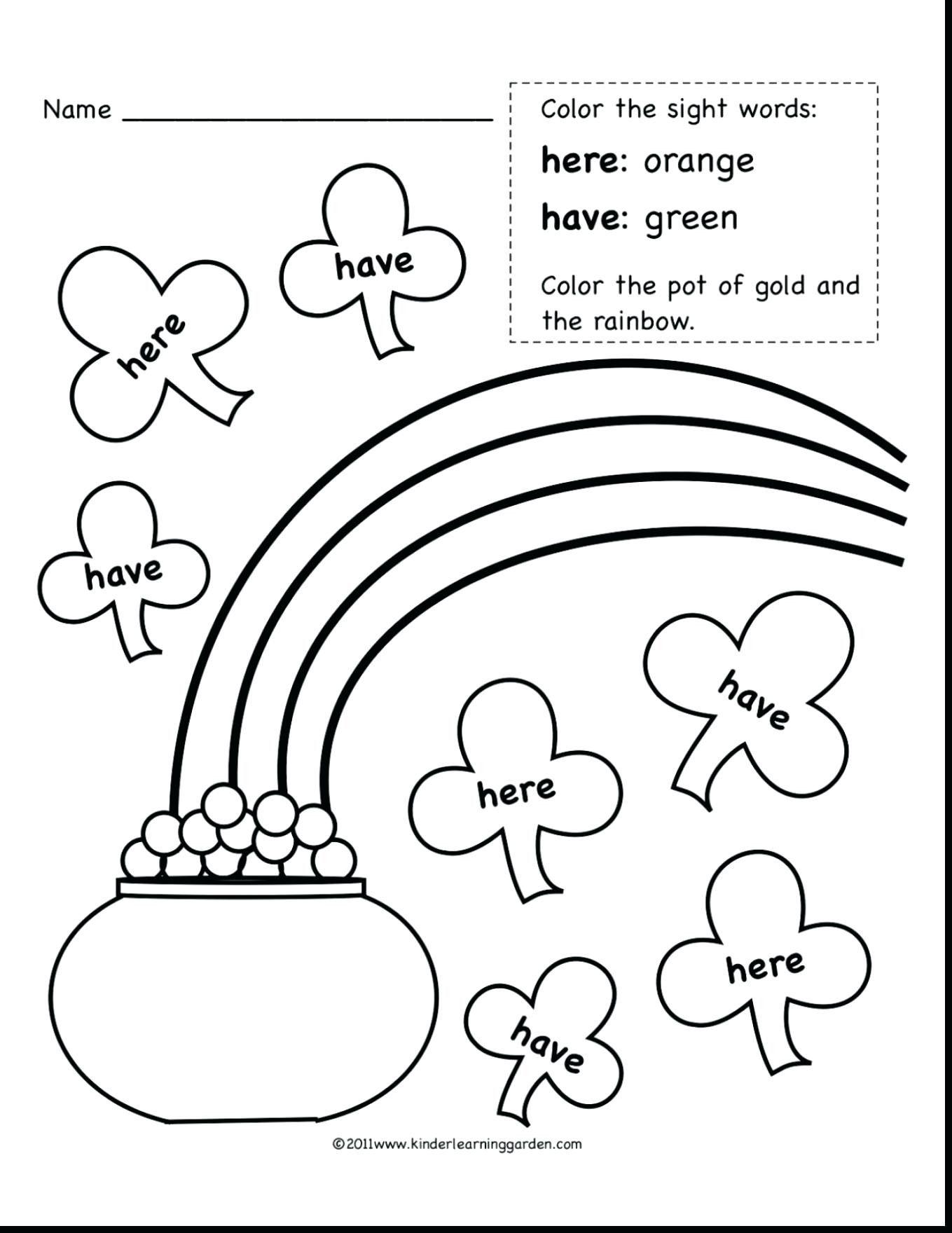 Spider Worksheet For Kindergarten Worksheet For Kindergarten Sight Word Coloring Sight Words Kindergarten Rainbow Writing [ 1760 x 1359 Pixel ]
