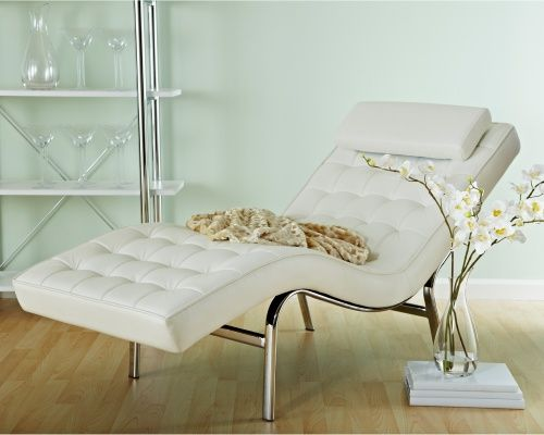 Best Euro Style Valencia Leather Chaise Lounge Indoor Chaise 400 x 300