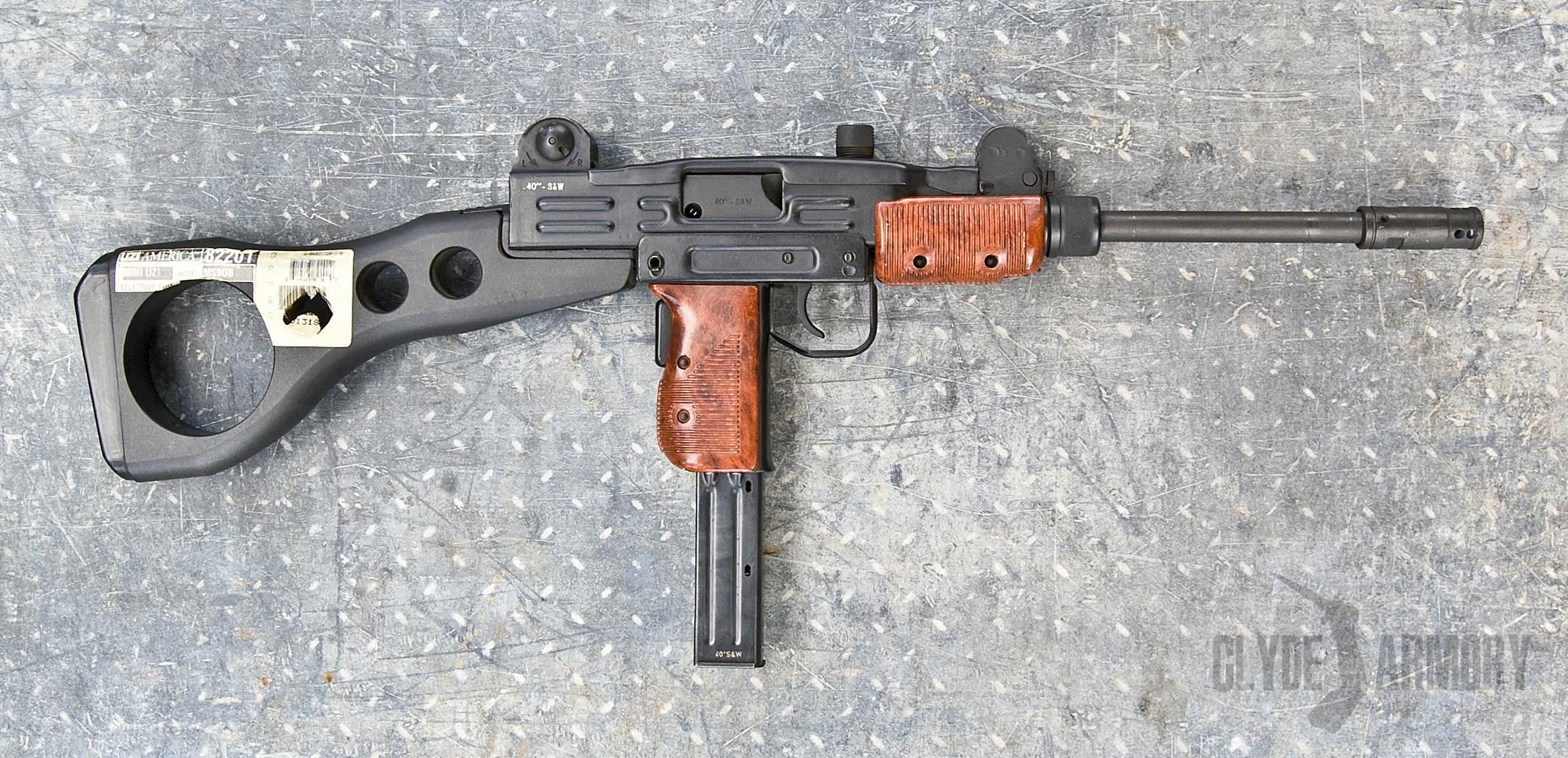 One of only three made IMI UZI officer's carbines  The first