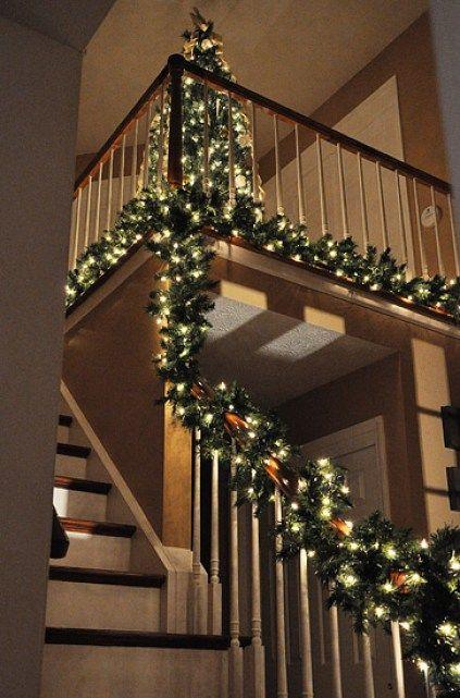 Decoracin Navidea para escaleras Escalera Decoracin navidea y