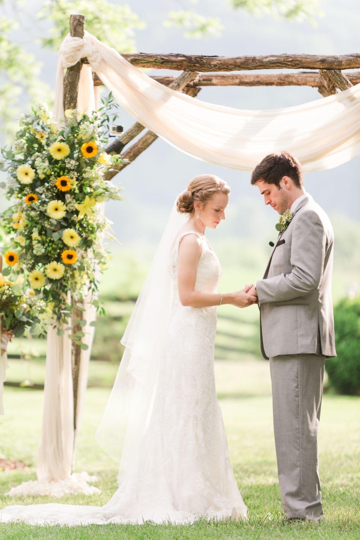 A Summer Sundara Wedding In Boones Mill Virginia Virginia Wedding Photographer Katelyn James Photography Outside Wedding Wedding Arbors Wedding Venues