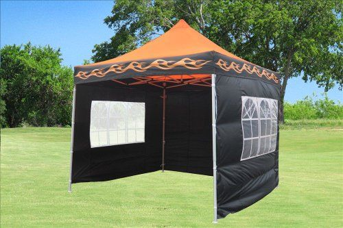 special offers delta canopies 10x10 pop up 4 wall canopy party tent gazebo ez orange - Orange Canopy 2016