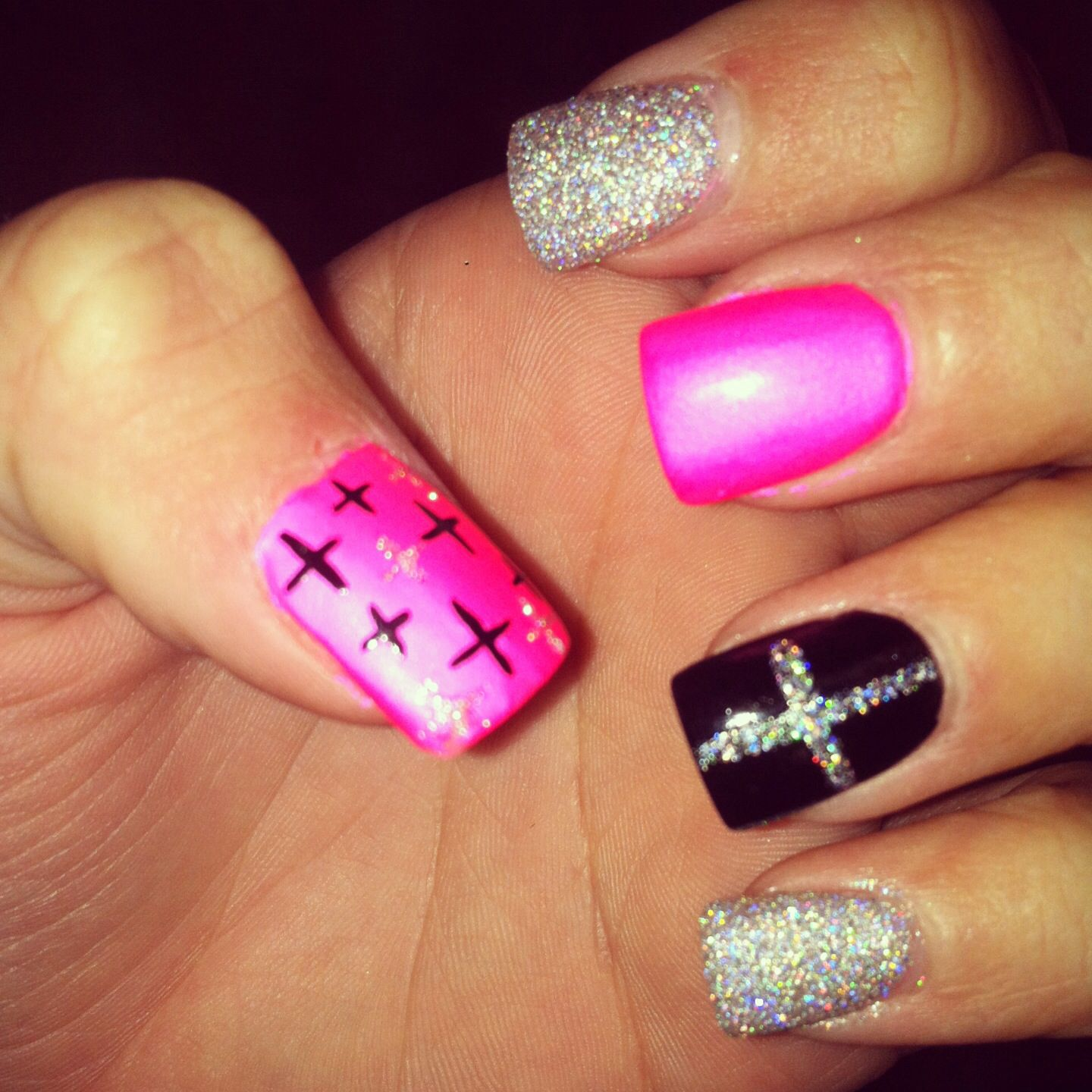 Cross nails | Nails | Pinterest | Cross nails, Nail nail and Makeup