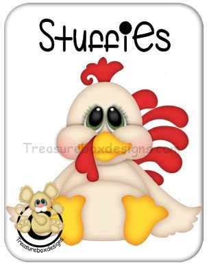 Stuffies Rooster - Treasure Box Designs Patterns & Cutting Files (SVG,WPC,GSD,DXF,AI,JPEG)
