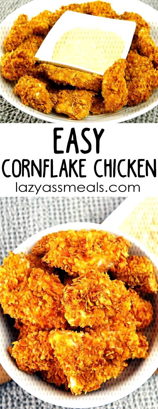 Super Crunchy Easy Cornflake Chicken