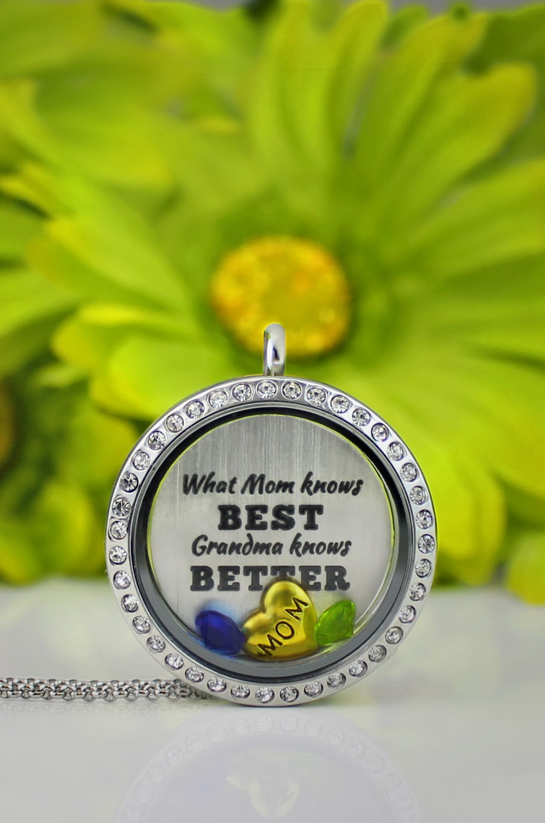 can sterling locket personalised grandma with silver flowers coloured lockets be oval colour