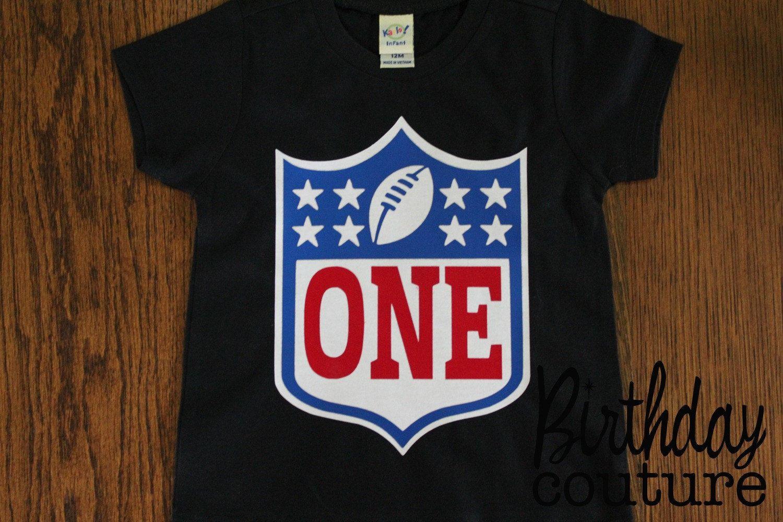 First birthday baby tshirt love football theme