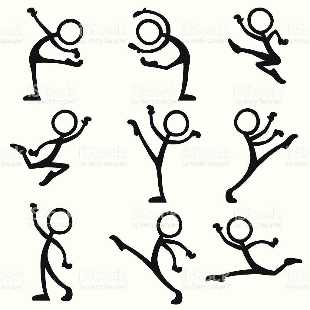 stickfigure dance ballet variety of ballet moves and actions rh pinterest com