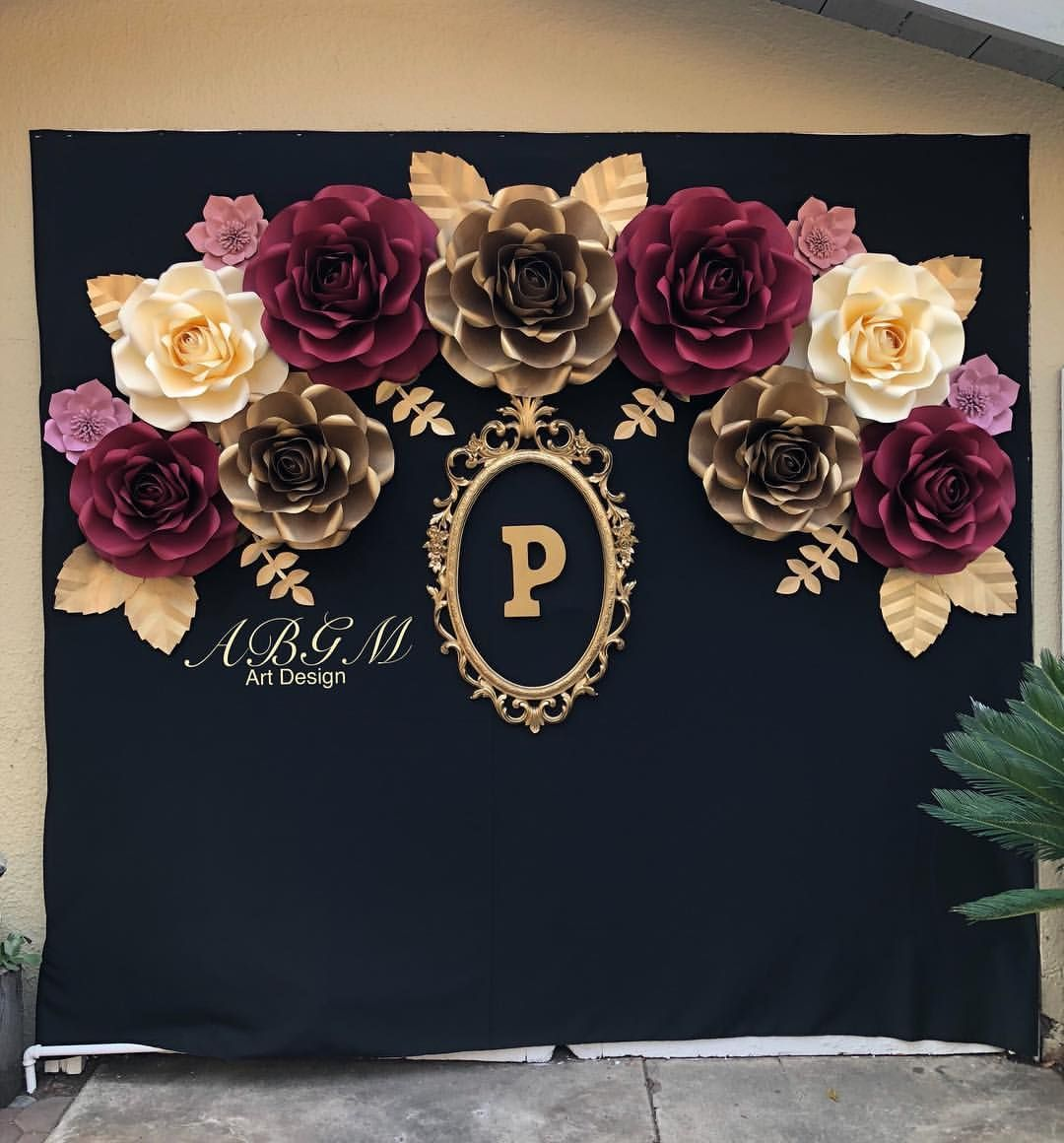 A Beautiful Backdrop Of Roses Made For Perlas Birthday Party Thank