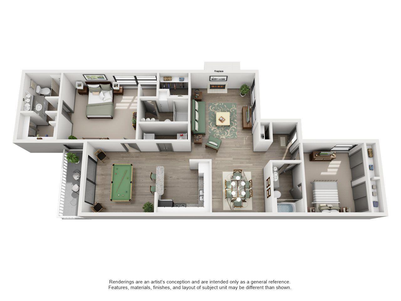 Fairway Adair Ii Off Addison 2x3 Floor Plan 9 House Floor Design Apartment Floor Plans New House Plans