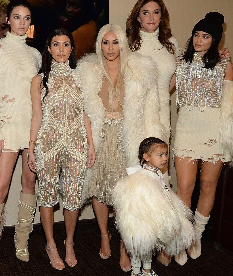 749e9fd8c1 The Kardashians take over New York Fashion week at Kanye West s Yeezy  Season 3 show!