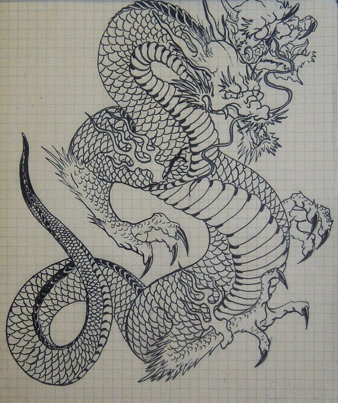 Dragon Japanese Art