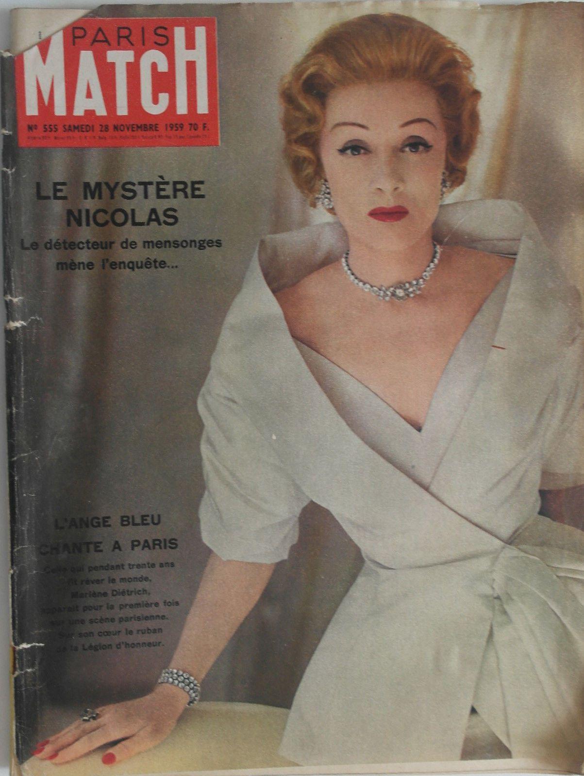 Paris Match N 555 1959 Le Mystere De Nicolas Joan Crawford Marlene Dietrich Joan Crawford Eccentric Clothing