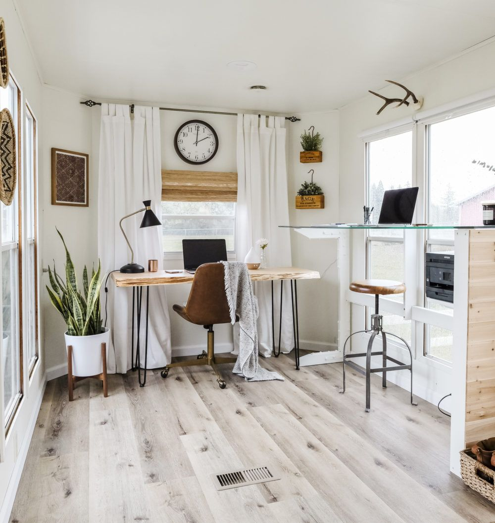 RV Home Office Inspiration RV Remodel Tips & DIYs Home