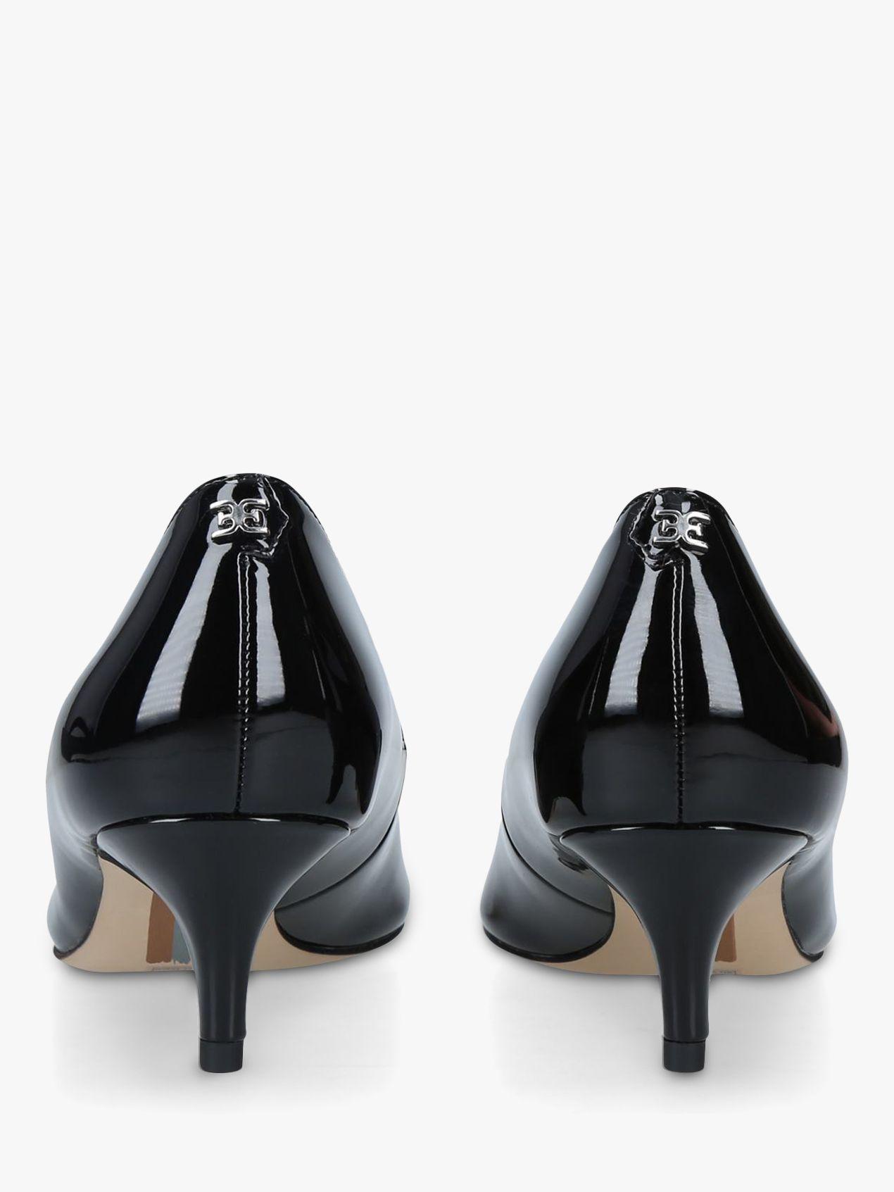 Sam Edelman Dori Kitten Heel Leather Court Shoes Black Patent Leather Court Shoes Sam Edelman Heels Kitten Heels