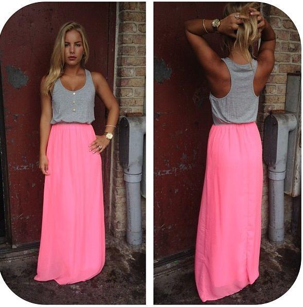Roze Zonder Mooie LijnMy Maxi Rok Style SplitWel Ook Hele NnX0PkwO8Z