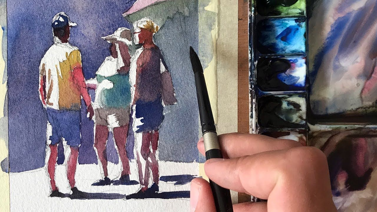 Using Temperature Over Values Painting People In Watercolor