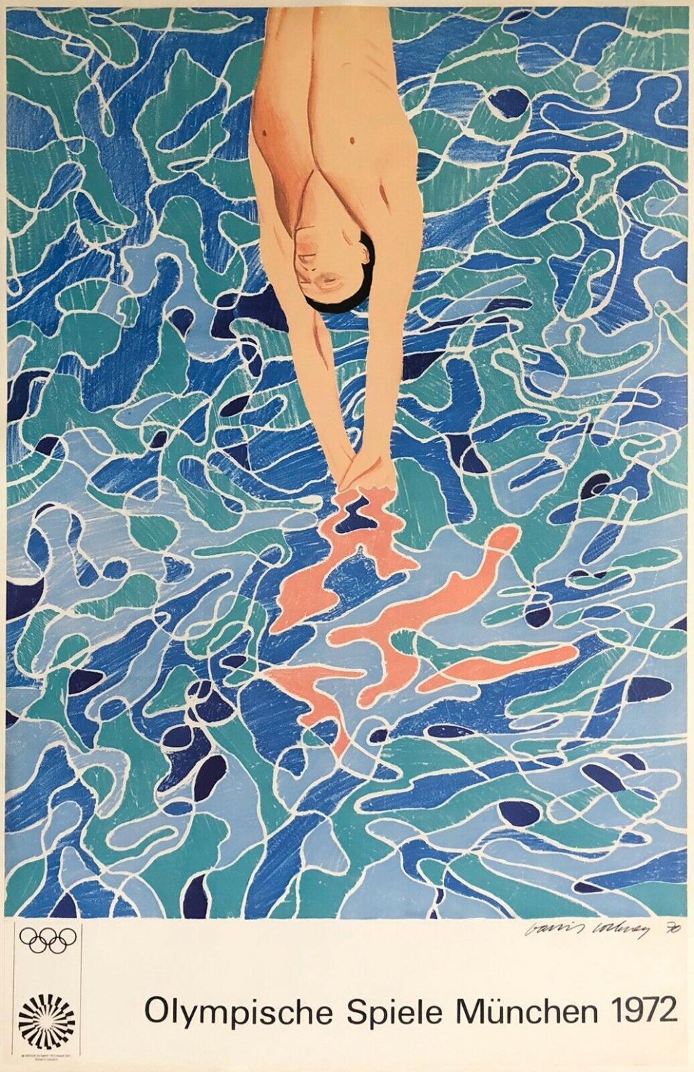 Print David Hockney Wall Art Munich Olympic Poster 1972