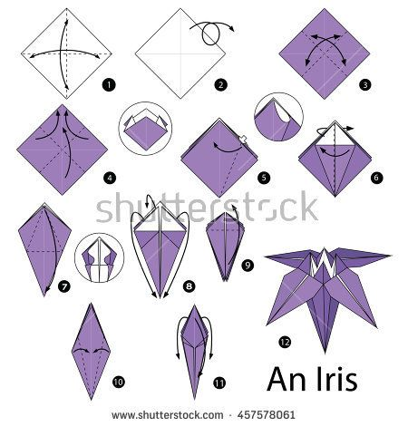 Pin by Rachel Loera on Irises | Origami, Origami diagrams ... - photo#8