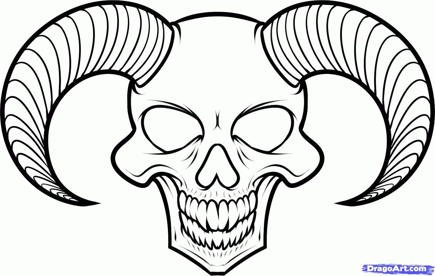 easy drawings of skulls cool easy drawings of skulls 3 decoration