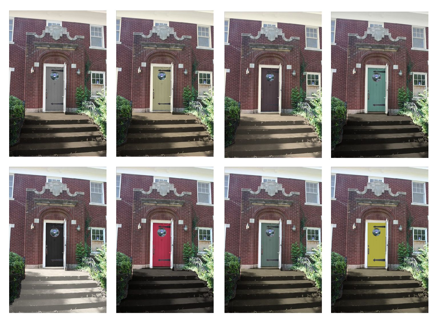 How A Door Color Can Change The Look Of An Entry Way House Pinterest Doors Bricks And