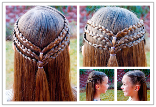 Cute Princess Hairstyle For Long Hair Wonderfuldiy 8 Fantastic Princess Hairstyles For Your Sweetie Princess Hairstyles Hair Styles Long Hair Diy