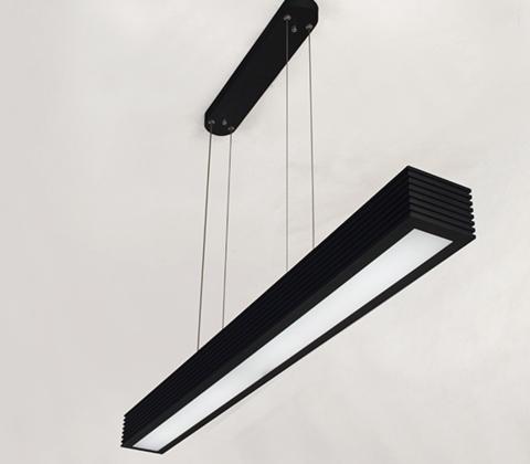 Koert Rectangular Case Pendant Lamp In Black 90cm Pendant Lamp Black Industrial Pendant Light Linear Pendant Lighting