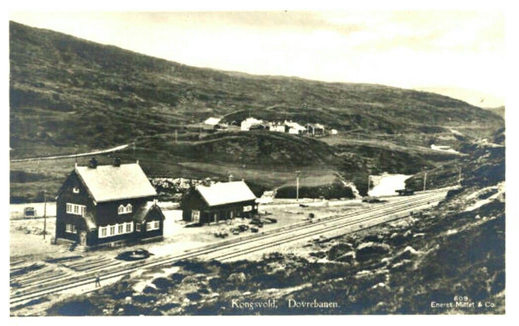 Sør-Trøndelag fylke Oppdal kommune Kongsvold stasjon i Drivdalen på Dovrebanen  Utg Mittet 1920-tallet