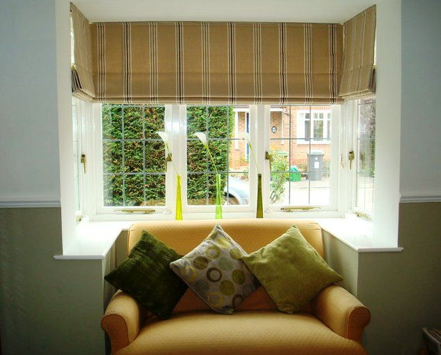 Blinds Probably Best For Awkward Window Shape Bay Window Curtains Living Room Bay Window Living Room Window Curtains Living Room