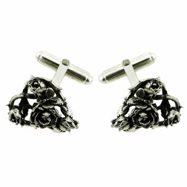 Heart Of Roses Cufflinks   Metal Couture   Wolf & Badger