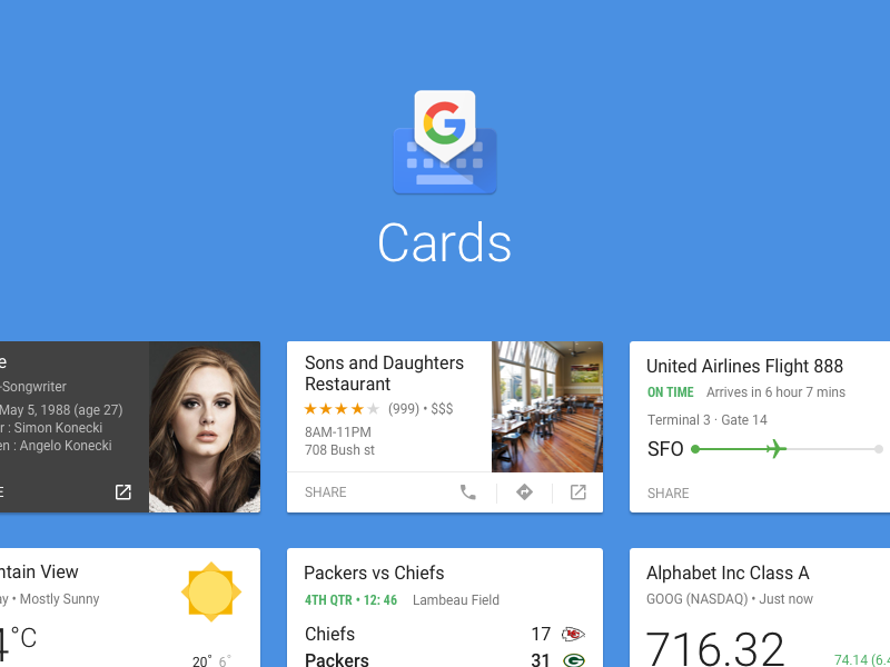 Cards in Gboard Cards, Dribbble, Card template