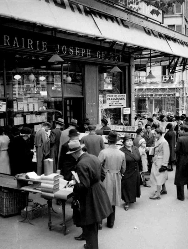 paris 1935 librairie gibert joseph boulevard saint michel paris 30 40 50 y 60s. Black Bedroom Furniture Sets. Home Design Ideas