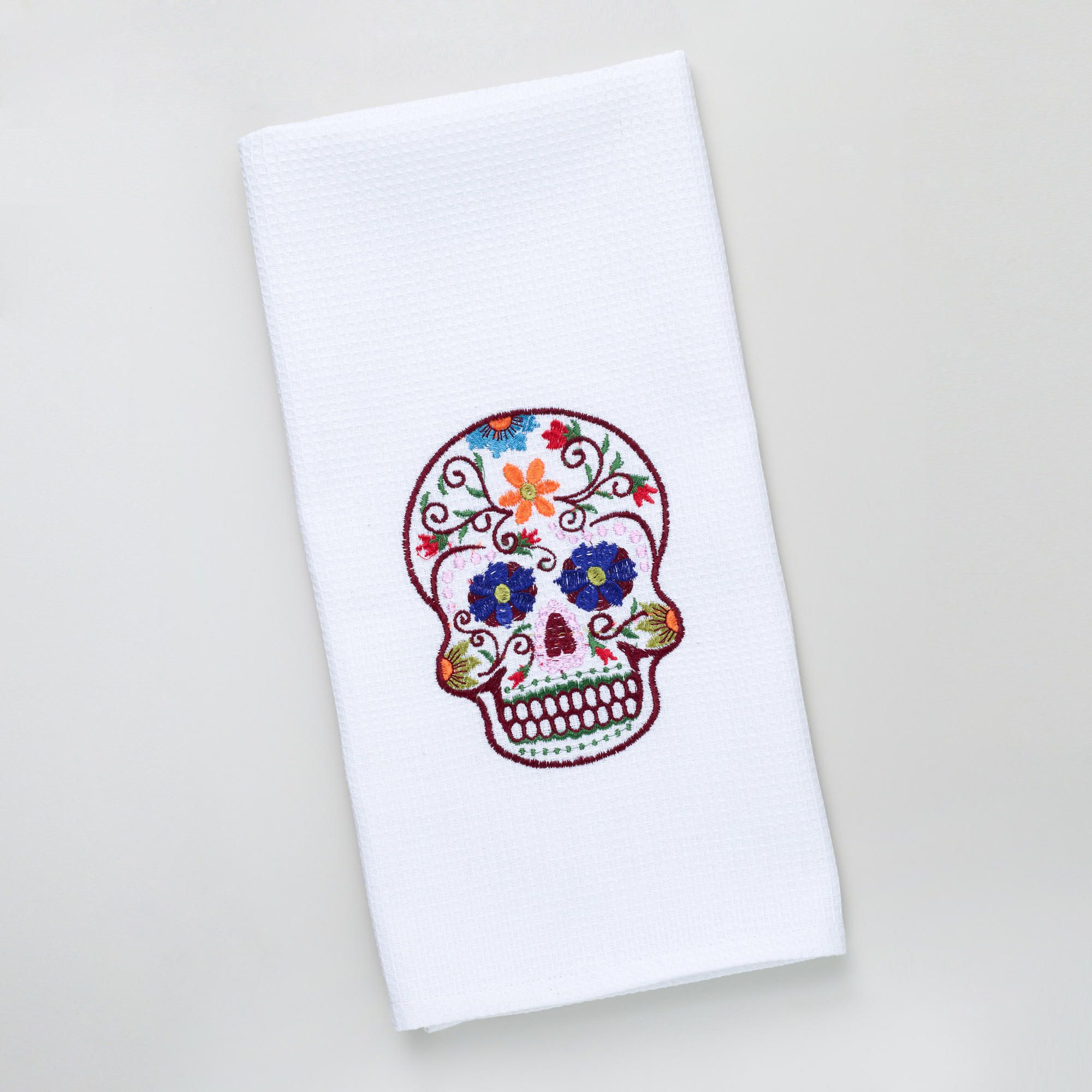 Sugar Skull Tea Towel - this would look quirky in my kitchen. | New ...