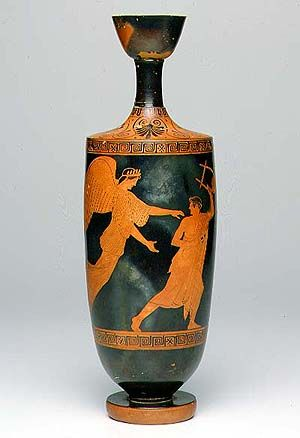 Greek Antique Redware Pottery Vase Large And In Excellent