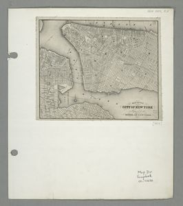 Map Of New York 1850.Map Of The City Of New York Prepared For The Model Of New York