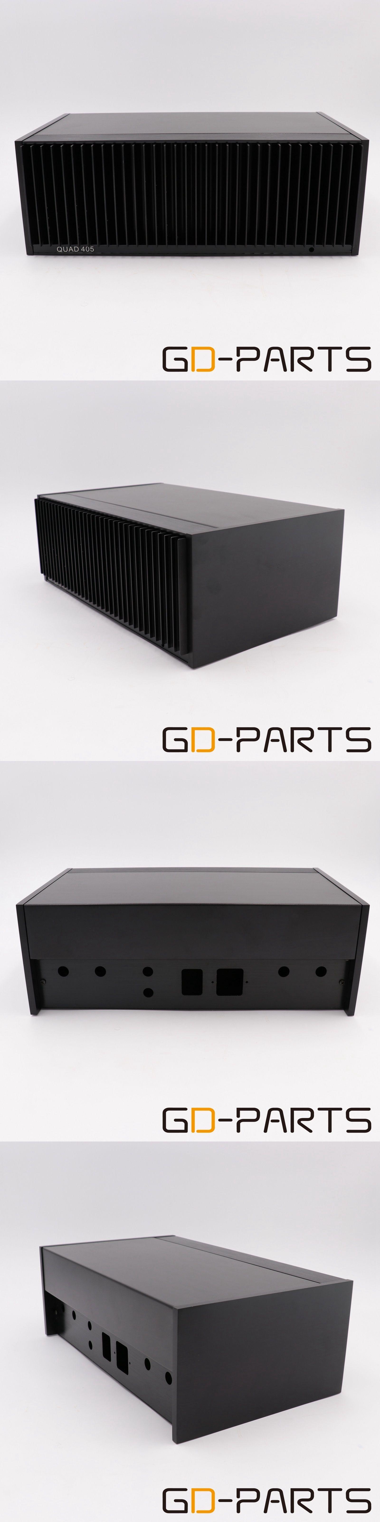Amplifier Parts and Components: Black Aluminum Steel