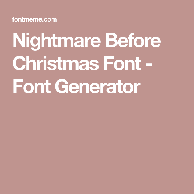 nightmare before christmas font generator jack skellington