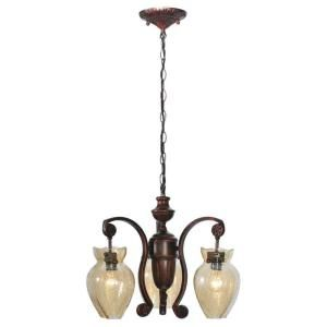3 Light Burnett Chandelier-DISCONTINUED-CLI-MEY82867 at The Home Depot
