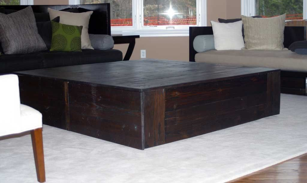 60 Square Coffee Table Coffee Table Reclaimed Coffee Table
