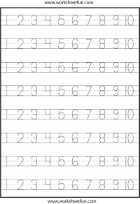 Worksheets Tracing Worksheets Printable number tracing 1 to 10 free printable worksheets worksheetfun