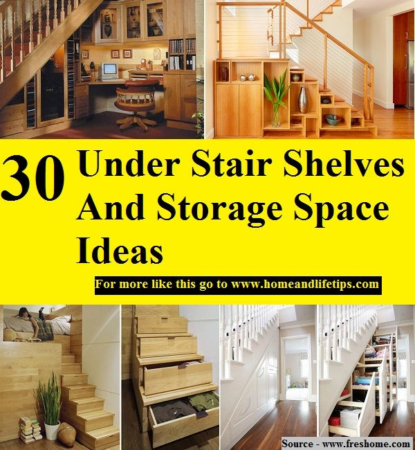 30 Under Stair Shelves And Storage Space Ideas