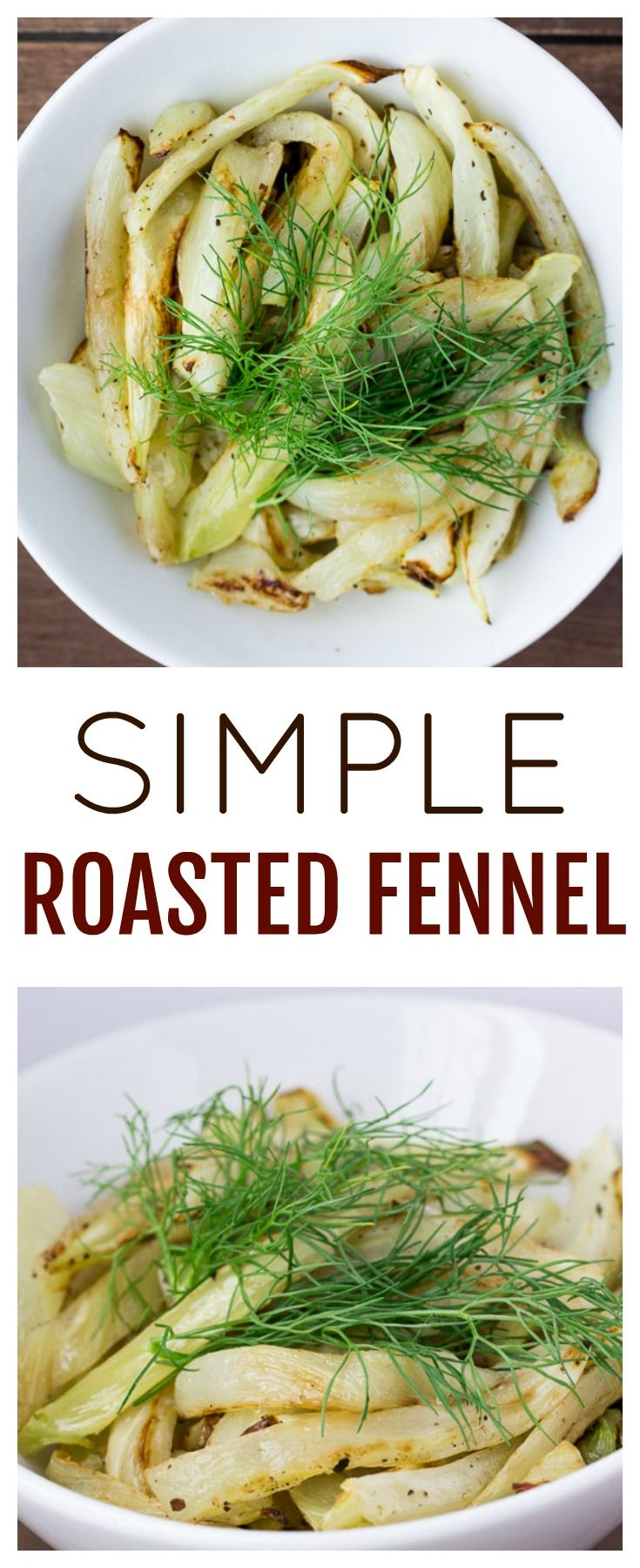 Simple Roasted Fennel is a delicious, somewhat unique, side dish recipe. It's easy to make and can be enjoyed all year! It's naturally gluten free and low carb, as well! |